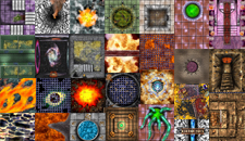 HeroQuest Ron Shirtz Dungeon Tiles