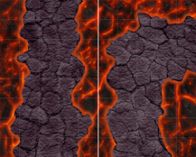 HeroQuest Lava Walkways
