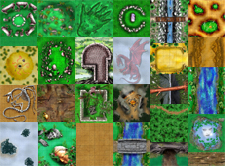 HeroQuest Ron Shirtz Outdoor Terrain Tiles